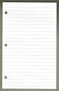 Linco 3 8 Ruled Filler Paper 6 X 9 5 White 3 holes 100 Sheets Smf 38 9