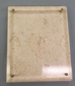 Trophy Parts Stone Beveled Glass 8 X 10 Plaque blank