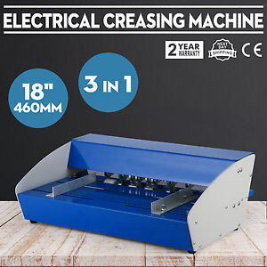 3in1 18 Electric Creasing Machine Paper Creasers Cutters Manual Folding