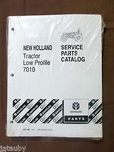 New Holland Tractor Low Profile 7010 Service Parts Catalog Manual Factory Wrap
