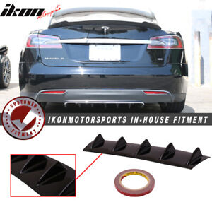 Fits 12 16 Tesla Model S Rear Diffuser Wing Unpainted Abs