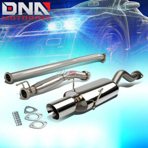For 02 06 Rsx Dc5 Type s K20a2 4 Rolled Tip Stainless Exhaust Catback System