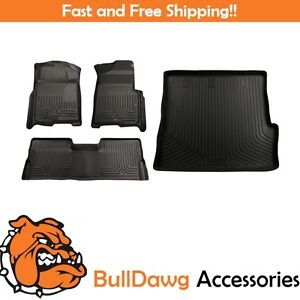 Husky Weatherbeater Floor Mat cargo Liner Bundle For Honda Pilot
