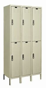 Hallowell Digitech 2 Tier 3 Wide School Locker