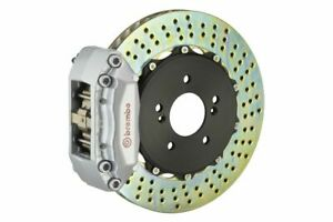 Brembo Gt Brake Kit Front 2 Pc Drilled 4 Piston Silver A4 B5 96 01 A6 2 8 C5