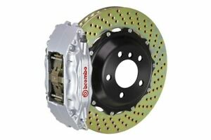 Brembo Gt Brake Kit Front 380mm 2 Pc Drilled 4 Piston Silver Fx35 Fx45 2003 2008