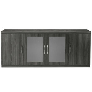 Low Wall Modern Office Credenza With Doors Cabinet Storage Conference Meeting 72