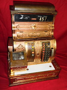 Antique Brass National Cash Register Model 1056 G Pickup In Denver Pa 17517