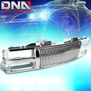 For 94 00 Chevy C10 Tahoe Blazer Chrome Front Bumper Upper Vertical Grill Guard