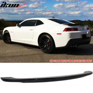 Fits 14 15 Chevy Camaro Oe Style Trunk Spoiler Painted Black Abs