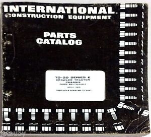 1975 International Construction Equipment Parts Catalog Crawler Tractor Chassis