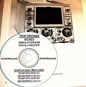 Tektronix Ops Service Manual For The Sc503 Storage Scope hi Low Serial s