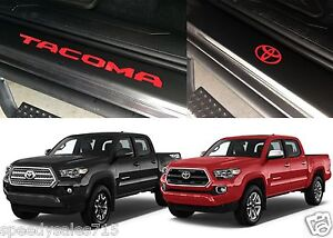 Front Rear Red Door Sill Vinyl Inserts 2016 2017 Toyota Tacoma New Free Ship