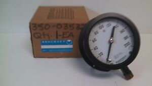 New Old Stock Ashcroft Duragauge 0 200psi Pressure Gauge 45 1379 ss 04l 200