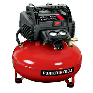 Porter cable 0 8 Hp 6 Gallon Oil free Pancake Air Compressor C2002 New