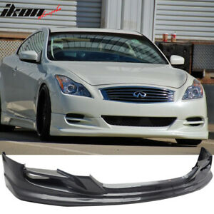 Fits 08 14 Infiniti G37 2dr Coupe Ts Style Front Bumper Lip Spoiler Pu Urethane