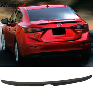 Matte Black Fits 14 18 Mazda 3 Mazda3 4dr Sedan Flush Factory Trunk Spoiler