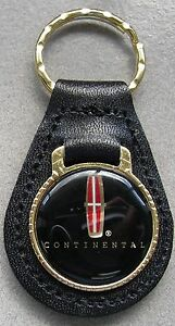Star Lincoln Continental Leather 4111 Goldtone Keyring 1939 1940 1941 1942 1943