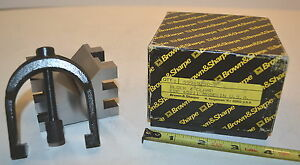 Nos Brown Sharpe Usa Precision Hardened Machinists Toolmakers V block Clamp