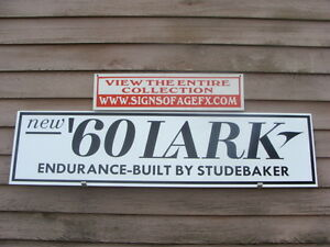 1960 S Studebaker Lark Classic Dealer Service Advertising Sign Garage Art 1 X4