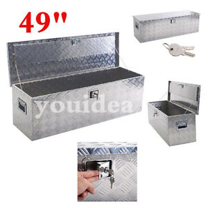 49 Aluminum Truck Pickup Atv Camper Tool Box Trailer Flatbed Rv Storage W locks