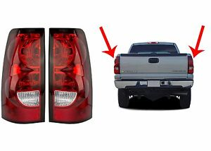 Replacement Tail Lights For 2003 2006 Chevrolet Silverado New Free Shipping Usa