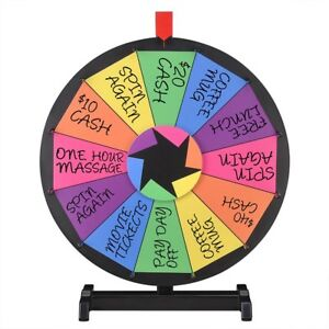 Winspin 18 Tabletop Color Prize Wheel Of Fortune 12 Slot Spin Game Tradeshow