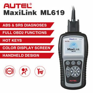Srs Abs Autel Ml619 Auto Scan Obd2 Diagnostic Scanner For Toyota Gm Ford Bmw Etc