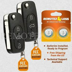2 For 1998 1999 2000 2001 Vw Volkswagen Beetle Golf Keyless Car Remote Key Fob