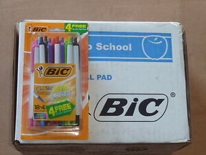 Lot Of 154 Bic Clic Stic Retractable Ballpoint Pens Assorted Colors