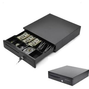 Cash Register Drawer Box 5 Bill 5 Coin Tray Compatible Works W pos Printers Rj11