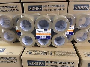 48 Rolls Premium Brown tan Carton Box Sealing Packing Tape 2 0 Mil 3 x110 Yard