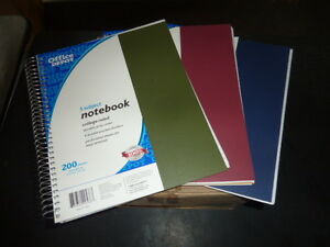 Case Of 12 Spiral Notebook College Rule 5 Subject 200 Sheets Assorted Colors