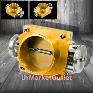 Gold 80mm Universal Weld on Cnc Cast Aluminum High Flow Intake Throttle Body