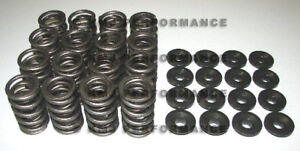 Sbc 350 V8 Chevy 1 44 Dual Valve Springs Overhaul Kit Retainers 600 Lift Set