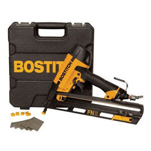 Bostitch 15 gauge 2 1 2 Oil free Angled Finish Nailer Kit N62fnk 2 New