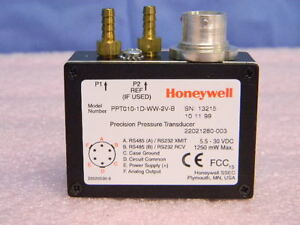 New Honeywell Precision Differential Pressure Transducer Ppt010 1d ww 2v b 10psi