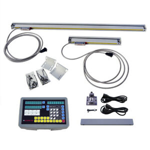 2 Axis Digital Readout Ttl Linear Scale 9x42dro Kit For Mill Bridgeport Emd