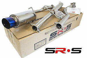 Srs Catback Exhaust System 05 10 06 07 08 Scion Tc Jdm 08 09 10 Blue Burnt Tip