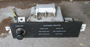 1987 1988 Ford Thunderbird Turbo Coupe Dash Lighter Systems Sentry Panel 87 88