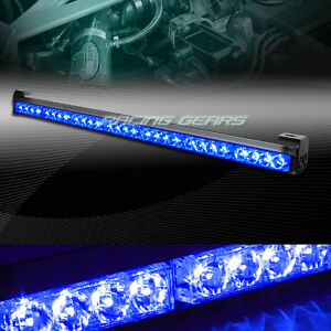 31 5 Blue Led Traffic Advisor Emergency Warn Flash Strobe Light Bar Universal 1