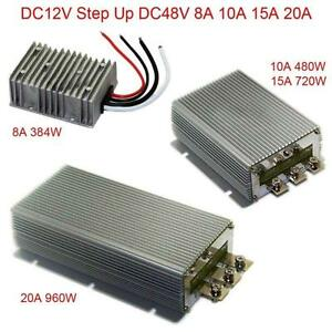 Dc12v Step Up Dc48v 8a 10a 15a 20a Power Supply Converter Module Waterproof New