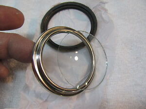 2 1 8 Replacement Bezel And Curved Glass Set Fits Stewart Warner Polished