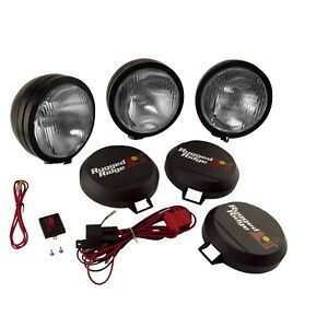Rugged Ridge 15205 61 6 Round Hid Off Road Fog Light Kit W Black Steel Housing