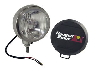 Rugged Ridge 15206 02 Stainless Housing 5 Inch Round Hid Off Road Fog Light Kit