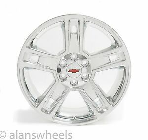 New Chevy Silverado Avalanche Chrome Red Bt 22 Wheels Rims Lugs Free Ship 5664