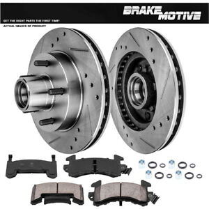 Front Drilled Slotted Brake Rotors Ceramic Pads Buick Chevy Gmc Olds Pontiac