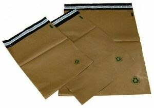 Biodegradable Poly Bag Mailer 1000 3 10x13 Brown Unlined Self Seal Envelope