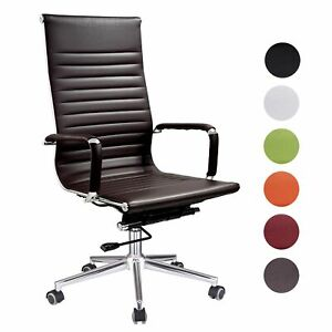 Ergonomic High Back Pu Leather Office Chair Computer Desk Home Seat Colors Opt