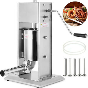 5l Sausage Filler Stuffer 304 Stainless Steel 15lb Two Speed